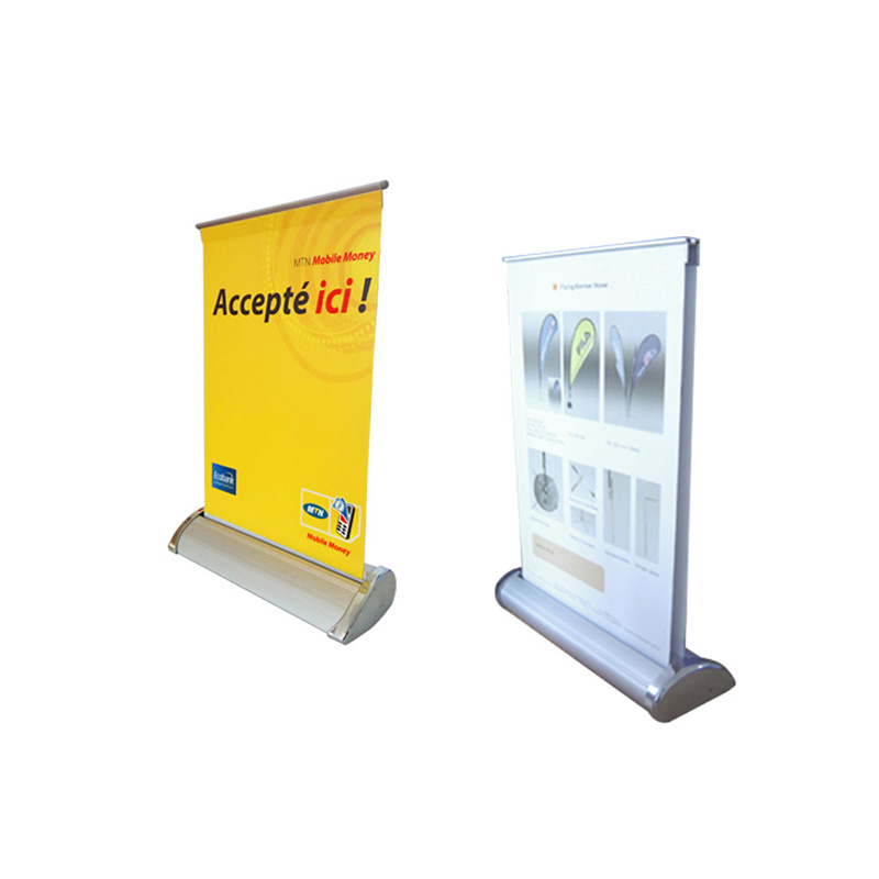 Double Side Desk Mini Roll Up Display (A4)